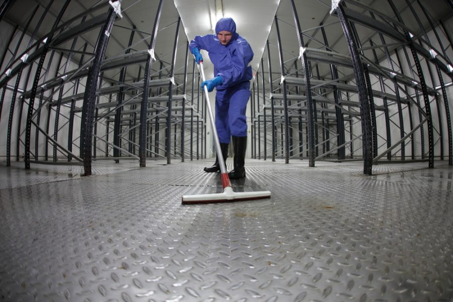 Industrial floor cleaning from Huber Building Maintenance